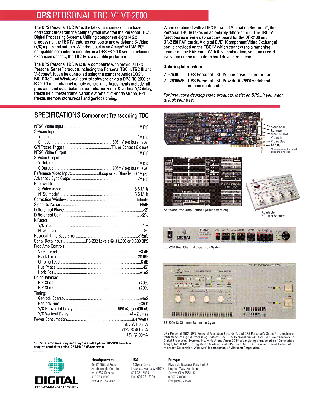 dps tbc iv time base corrector for amiga 2000 3000 t 4000. Black Bedroom Furniture Sets. Home Design Ideas